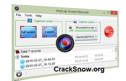 AnyCap Screen Recorder Crack
